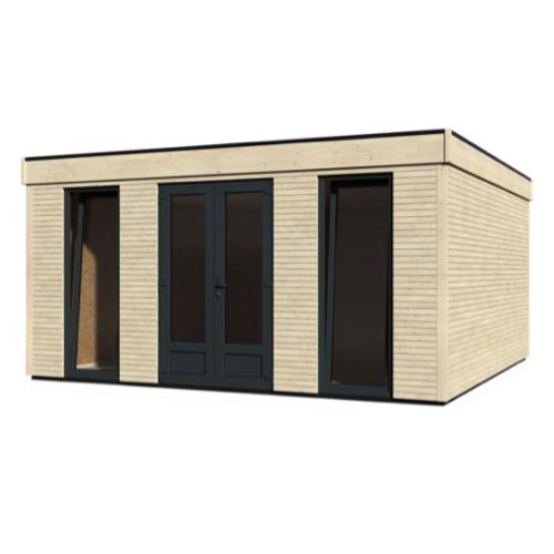abri jardin a amenager grand modèle moderne fenêtre et porte