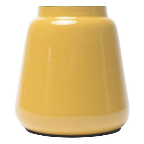 accessoire deco couleur jaune vase moderne et simple