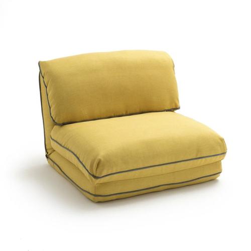 accessoire deco couleur jaune chauffeuse moderne liseré bleu