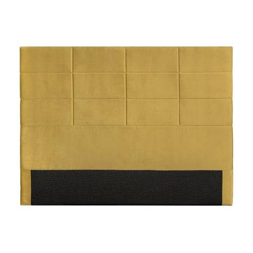 accessoire deco couleur jaune tête de lit capitonnée