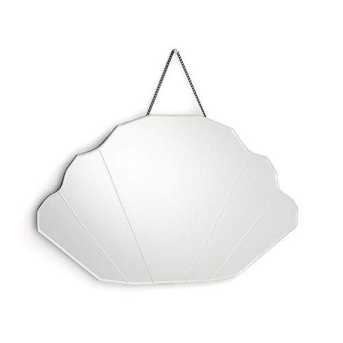 accessoire decoration forme coquillage miroir style rétro vintage