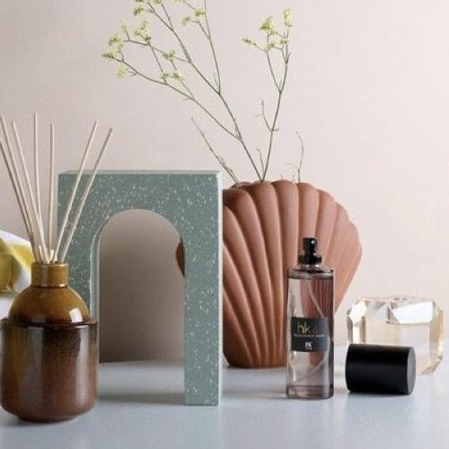accessoire decoration forme coquillage vase couleur corail terracotta moderne