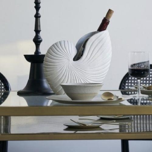 accessoire decoration forme coquillage vase grand modèle design moderne