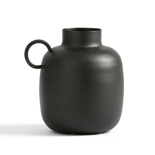accessoire decoration style neo antique petite vase jarre noir élégant
