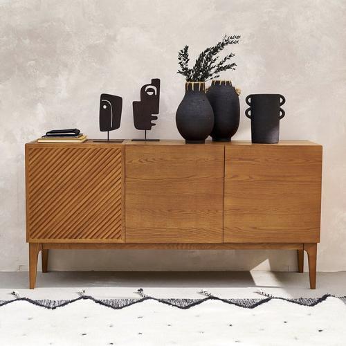 accessoire decoration style neo antique vase jarre à poser sur meuble noir