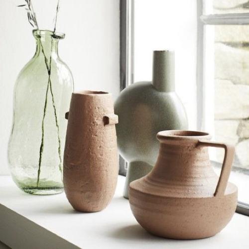 accessoire decoration style neo antique vase en terre cuite ancien en grés terracotta