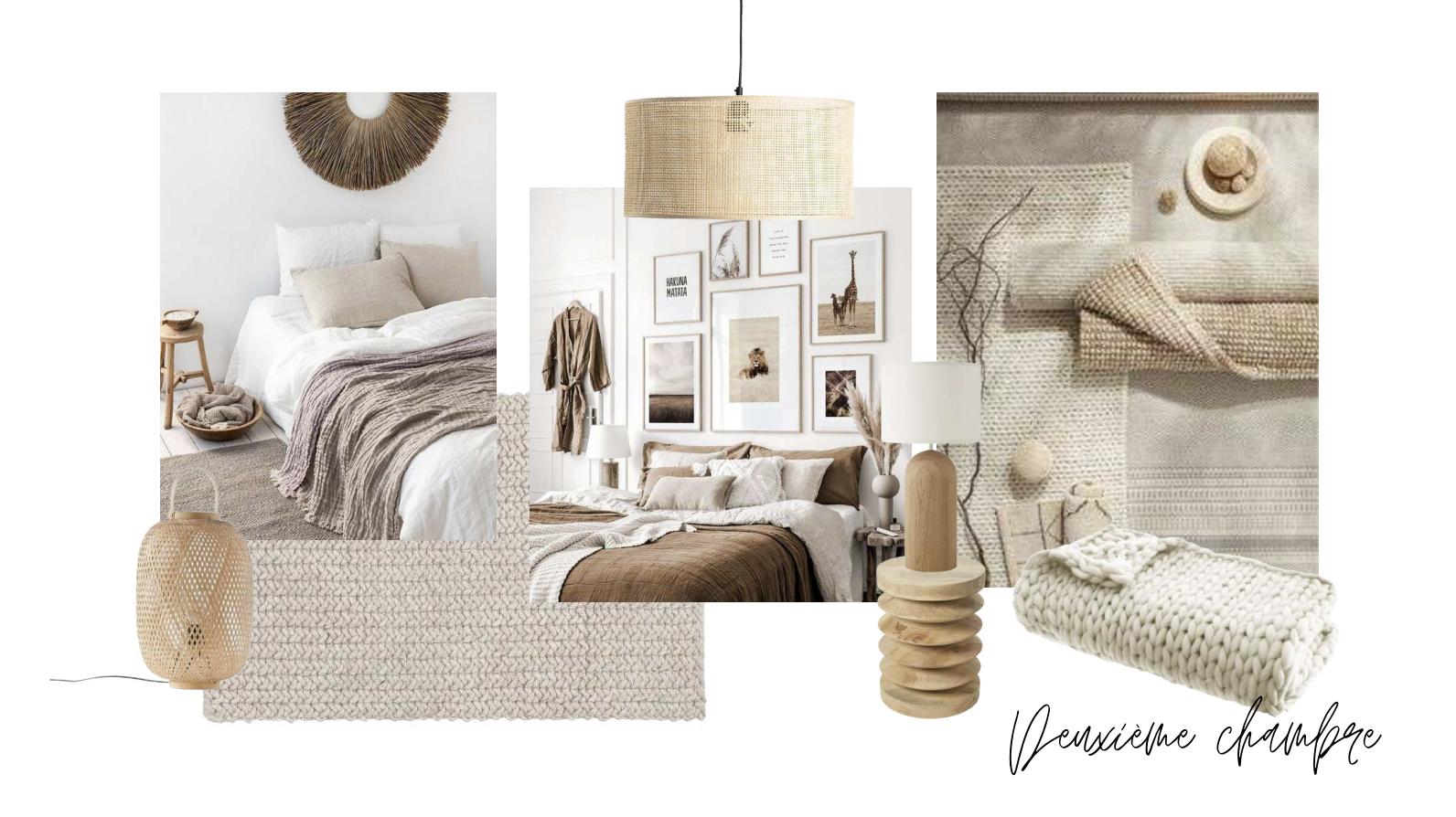 ambiance boheme planche tedance chambre accessoire decoration couleur matériaux naturels neutres