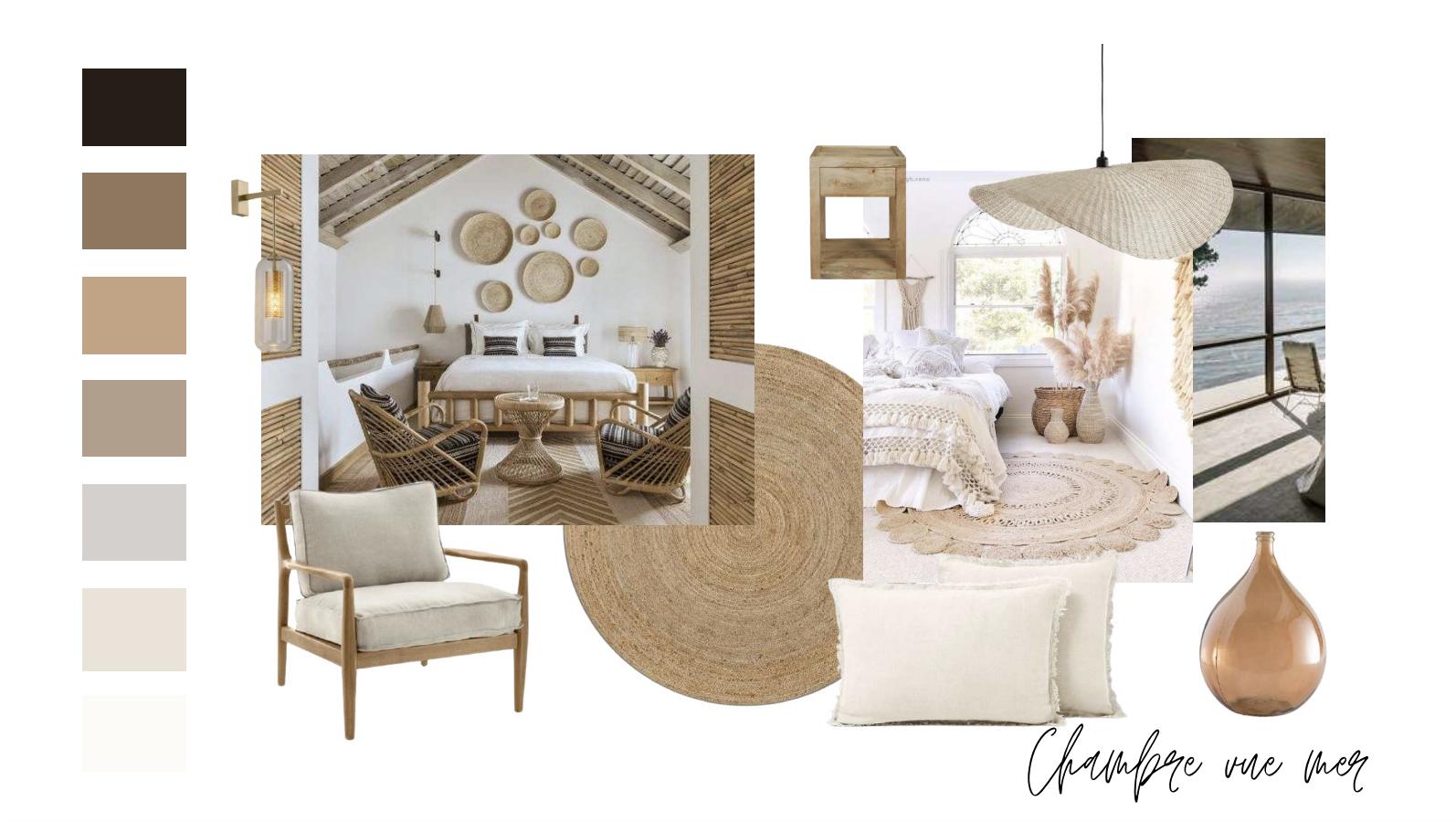 ambiance boheme planche tendance chambre exemple shopping couleur matériaux accessoires décoration