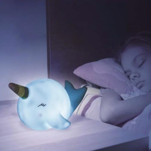 bien choisir veilleuse enfant baleine licorne lumière bleue