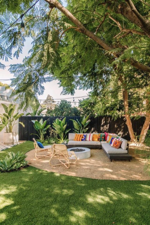 brasero exemple amenagement jardin terrasse foyer extérieur chauffage convivial