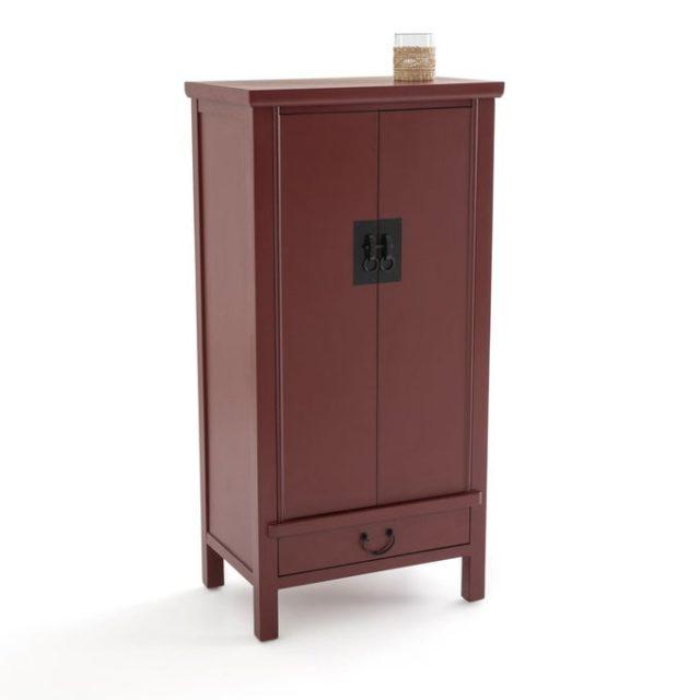 chambre couleur accessoire exemple armoire couleur bordeaux rouge sombre