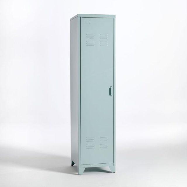 chambre couleur accessoire exemple armoire en métal bleu pastel