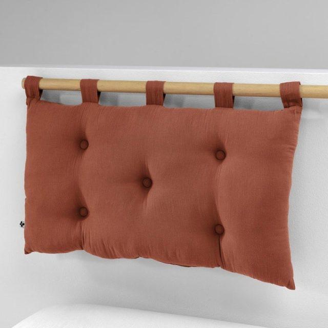 chambre couleur accessoire exemple tête de lit coussin capitonné couleur terracotta