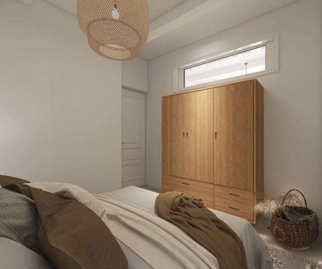chambre deco boheme moderne armoire bois petite fenêtre