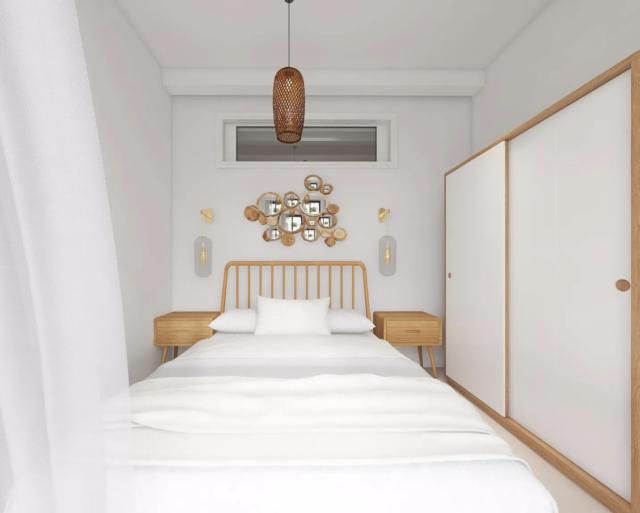 chambre deco boheme moderne tête de lit rotin ambiance lumineuse blanche naturelle