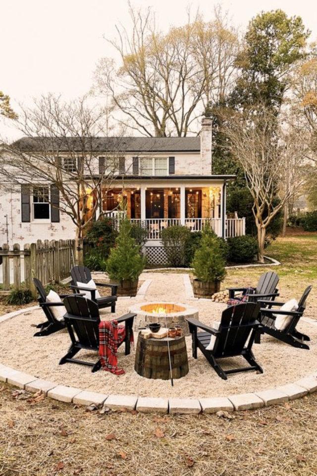 comment construire brasero jardin terrasse ronde en gravier coin cosy détente jardin extérieur
