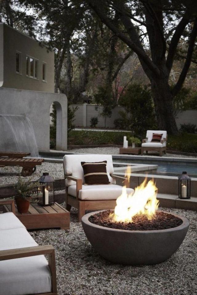 comment construire brasero jardin coin feu extérieur convivial et détente piscine salon outdoor