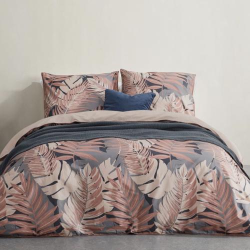 couleur chambre accessoire decoration mobilier parure de lit imprimé tropical rose
