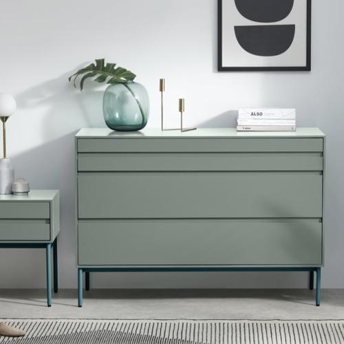 couleur chambre accessoire decoration mobilier commode couleur vert d'eau céladon