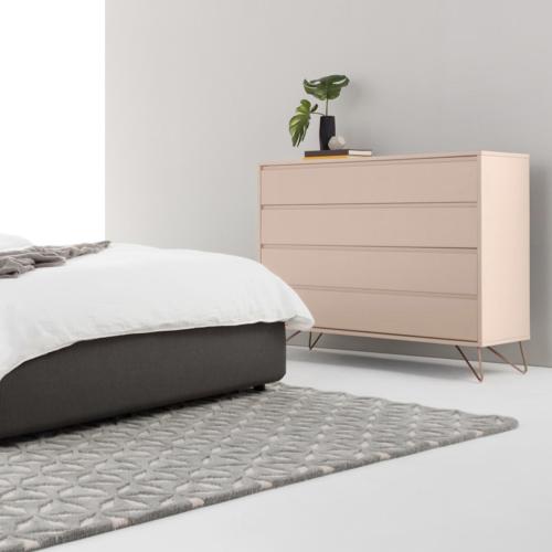 couleur chambre accessoire decoration mobilier commode rose pastel