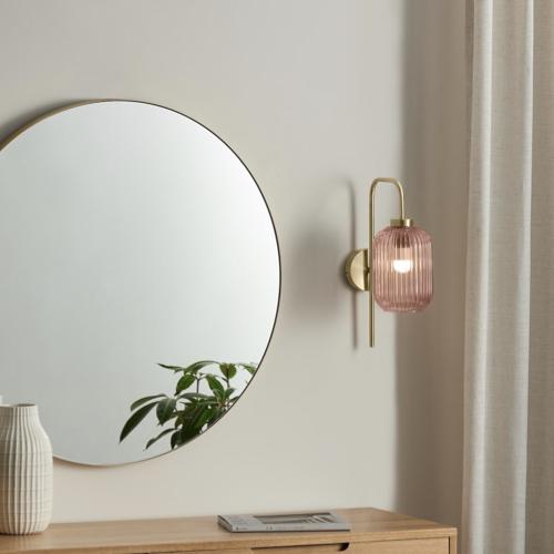 couleur chambre accessoire decoration mobilier luminaire applique murale rose verre
