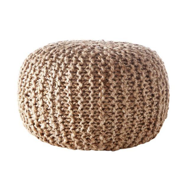 creer salon minimaliste facilement slow living pouf naturel