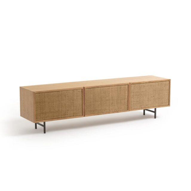 creer salon minimaliste facilement meuble tv cannage slow living