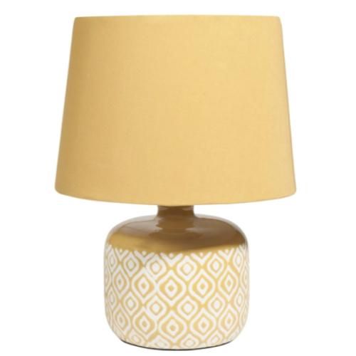 deco chambre accesoire colore lampe de chevet jaune abat-jour