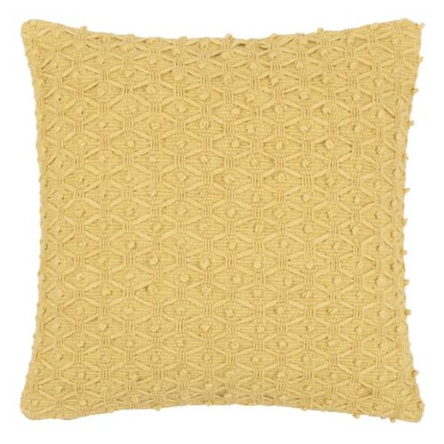 deco chambre accesoire colore coussin jaune carré motif relief