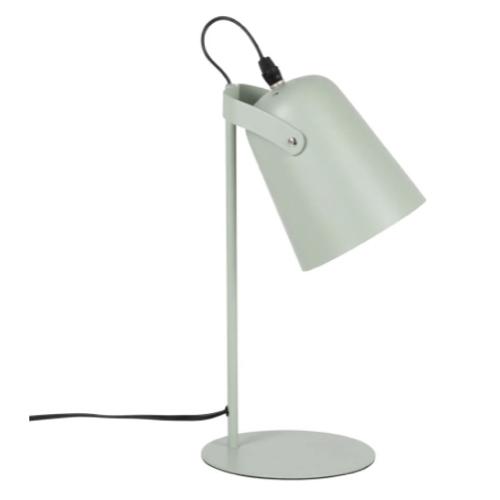deco chambre accesoire colore lampe de bureau couleur céladon