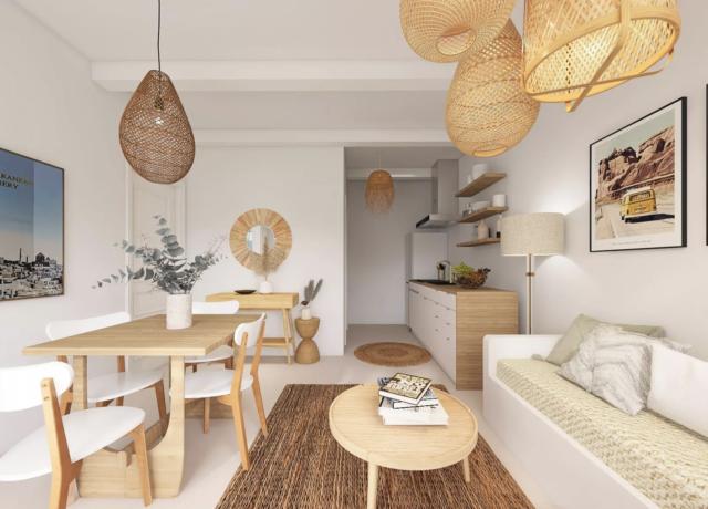 decoration boheme sejour exemple salon avec coin repas style moderne