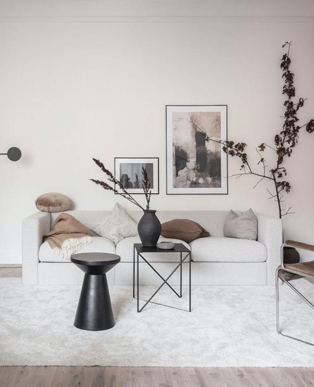 decoration minimaliste salon indispensables canapé blanc déco épurée slow design