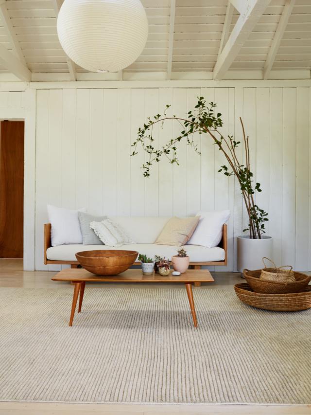 decoration minimaliste salon indispensables ambiance japandi slow living bois blanc simplicité