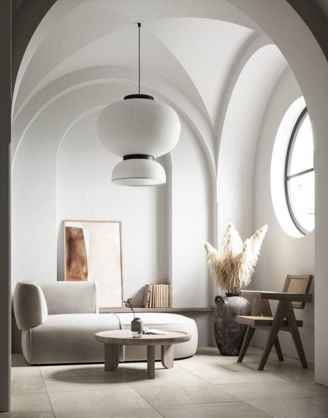 decoration minimaliste salon indispensables slow design effet cathédrale église architecture d'intérieur