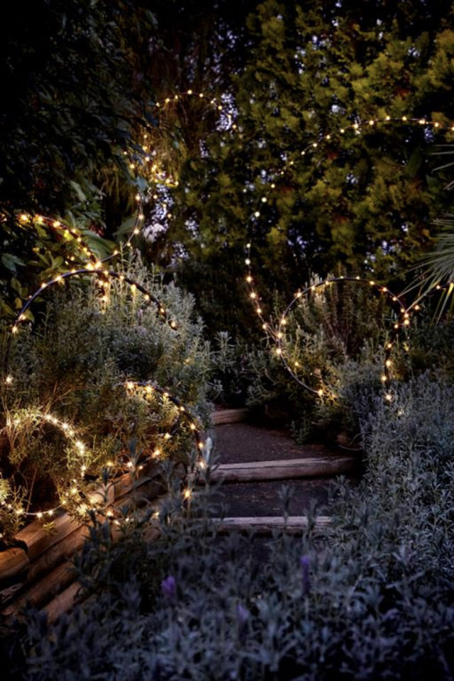 eclairage jardin exemple a copier féérie composition ronde originale