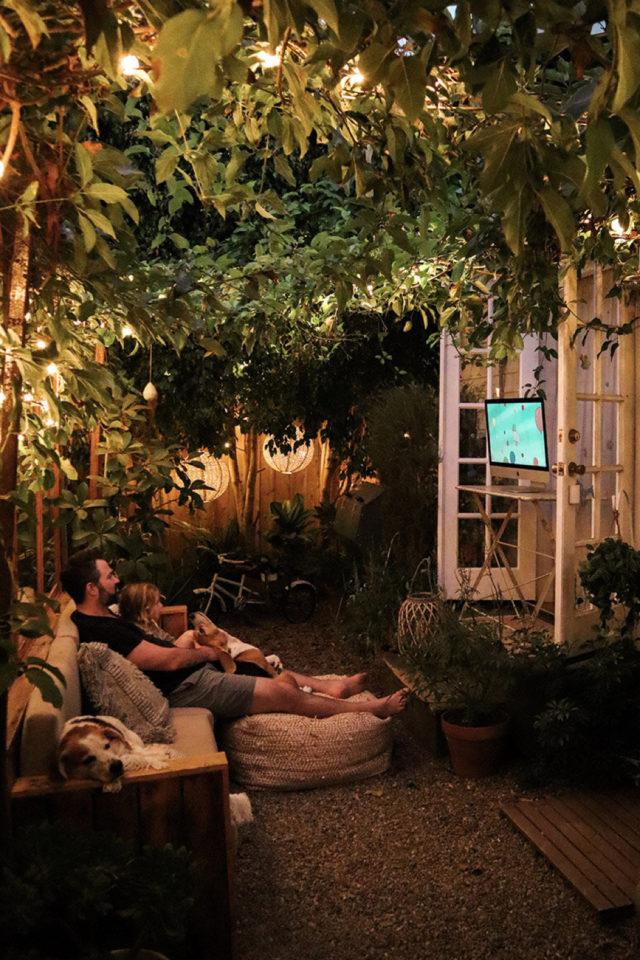 eclairage jardin exemple a copier salon extérieur terrasse cosy convivial
