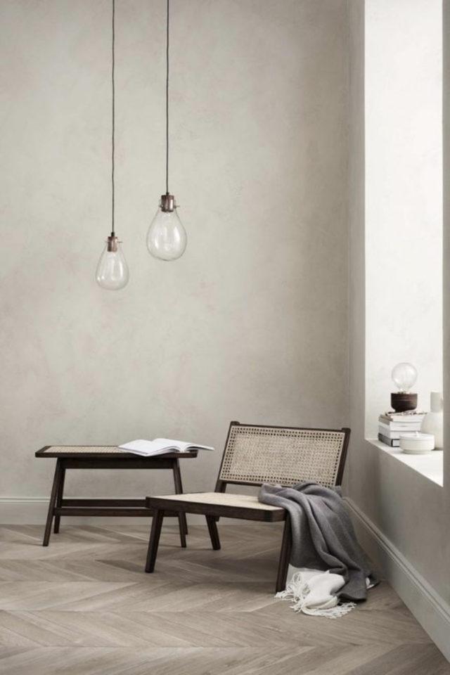 fauteuil tendance deco slow design exemple déco épuré minimaliste