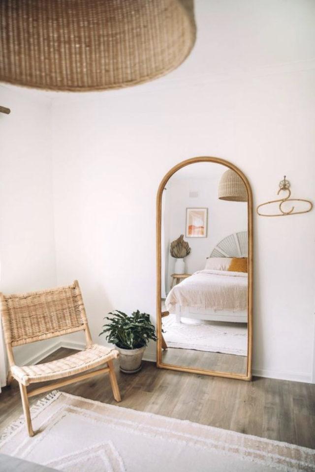 fauteuil tendance deco slow design miroir chambre à coucher