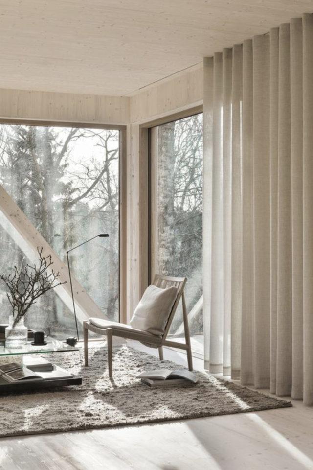 fauteuil tendance deco slow design baie vitrée coin lecture moderne exemple