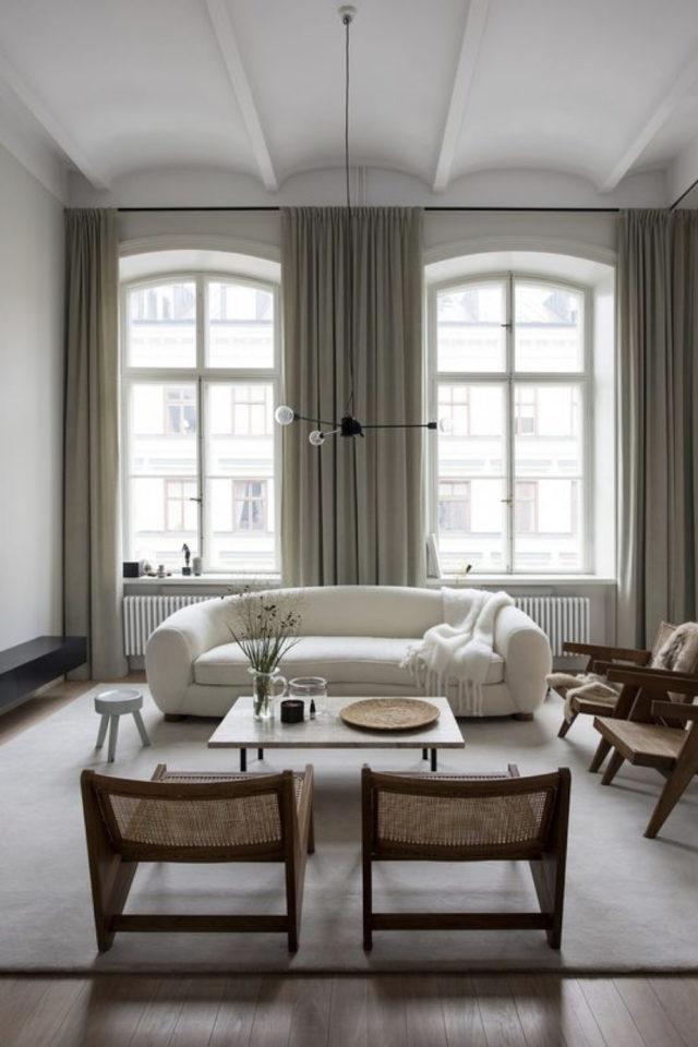 fauteuil tendance deco slow design salon séjour exemple canapé arrondi