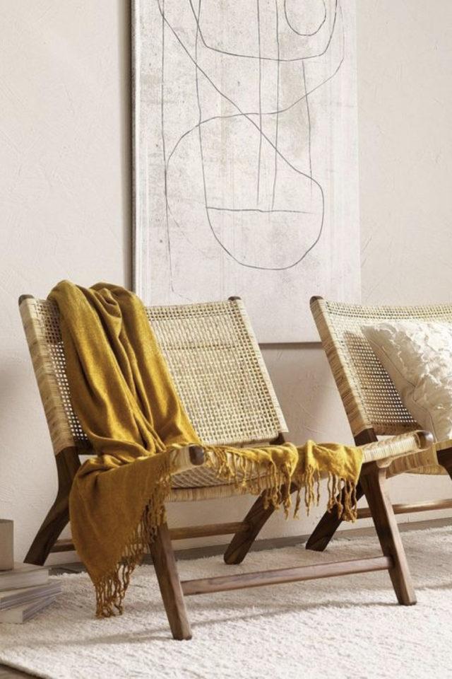 fauteuil tendance slow design tressage cannage rotin tendance