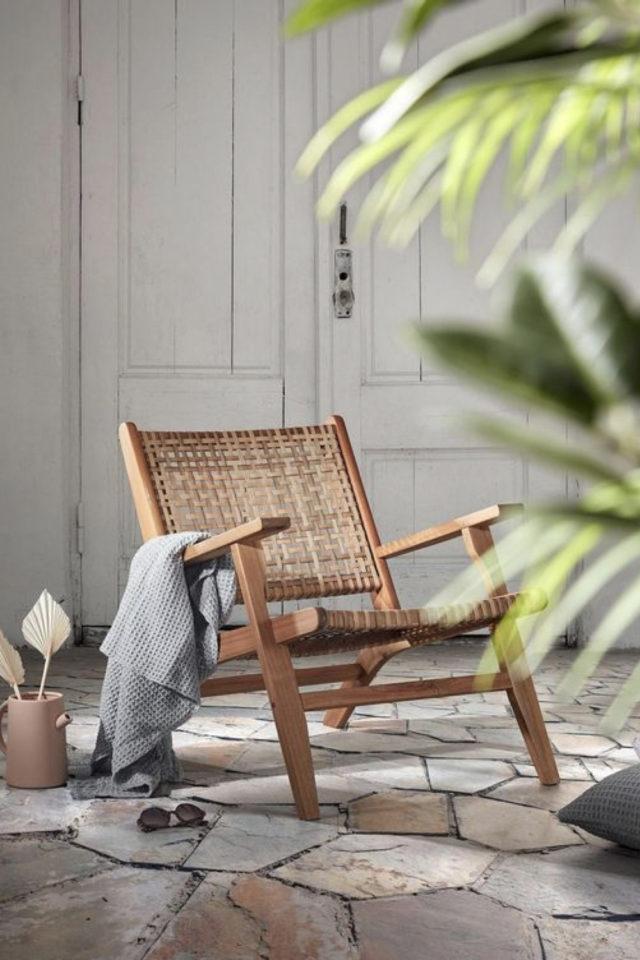 fauteuil tendance slow design chaise basse avec accoudoir salon séjour