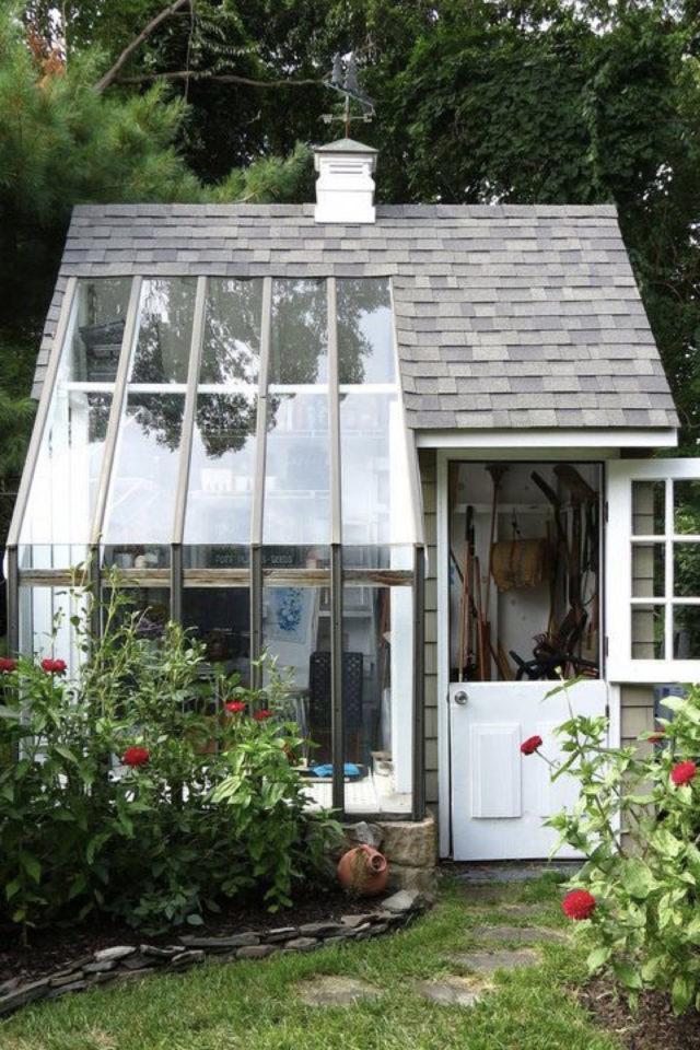 jardin amenagement she shed exemple maisonnette serre véranda