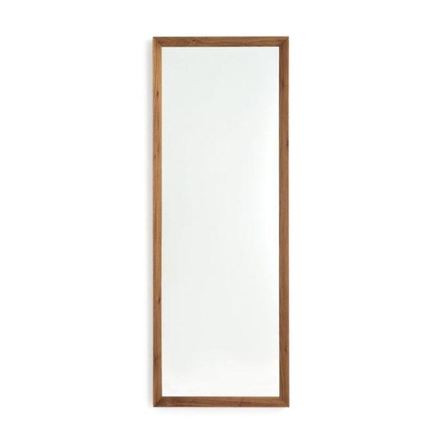 miroir salle de bain double vasque  garnd rectangle encadrement bois