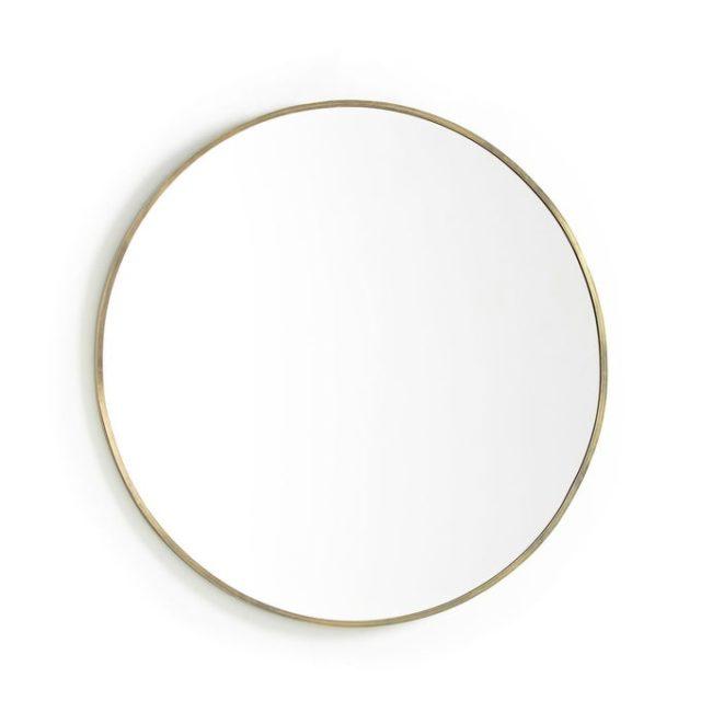 miroir salle de bain double vasque rond moderne tendance laiton