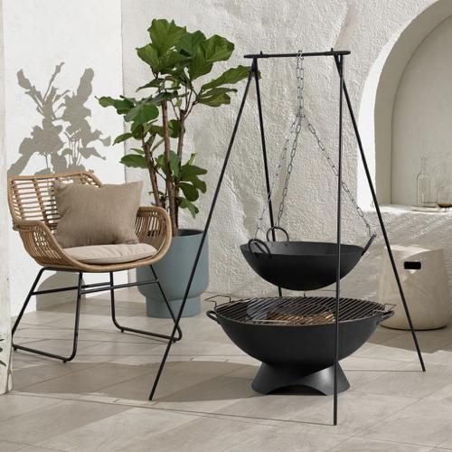 ou trouver brasero jardin moderne pour cuisson alternative barbecue