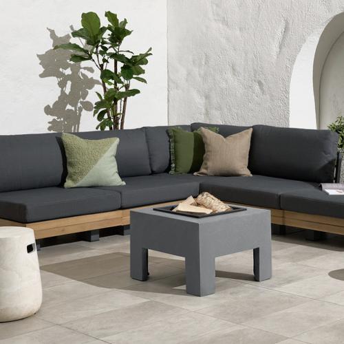 ou trouver brasero jardin moderne carré couleur gris béton