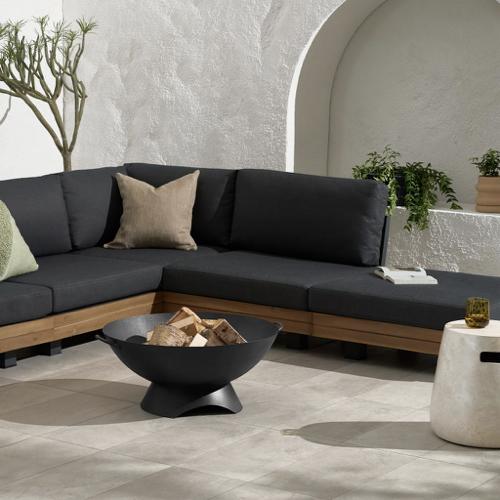 ou trouver brasero jardin moderne petit modèle noir petit extérieur
