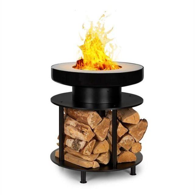 ou trouver brasero pas cher rond sur pied bois chauffage extérieur