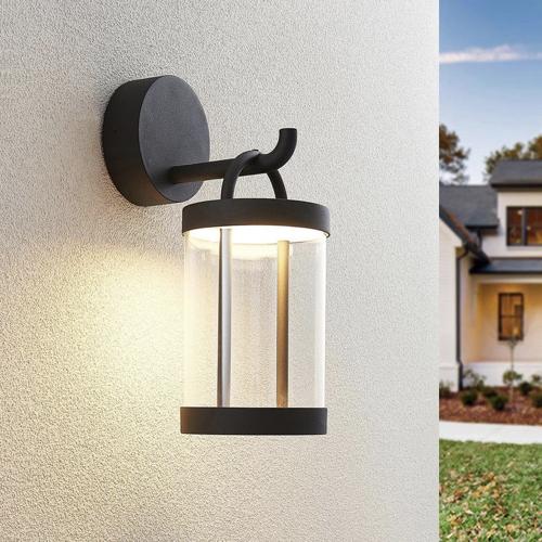 ou trouver eclairage deco jardin applique murale extérieure lanterne verre métal